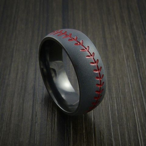 Baseball Wedding Rings and Bands ring Pinterest Wedding