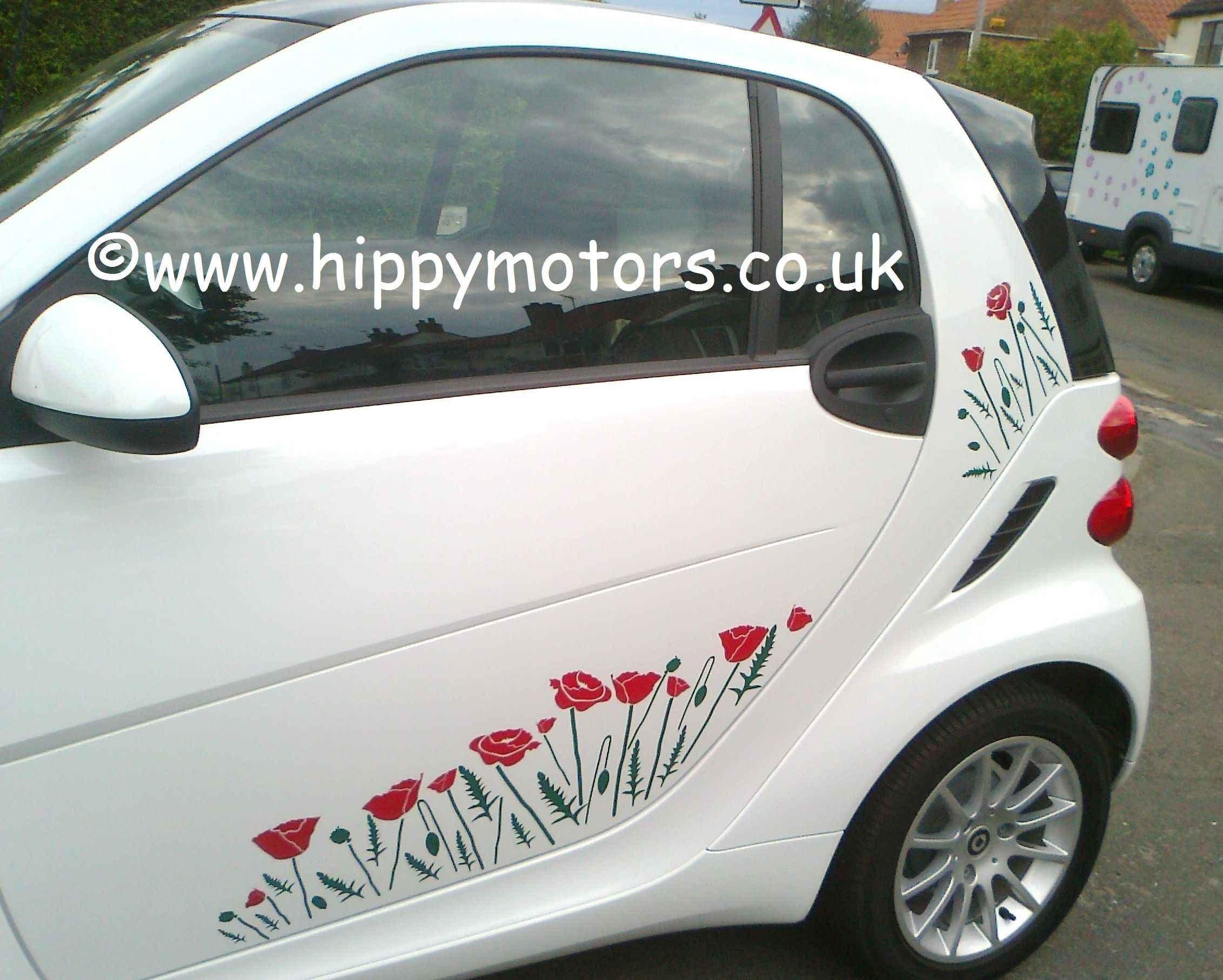 Smart car sticker designs - Smart Car Poppy Decals Suitable For Any Car Camper Van Found At Https