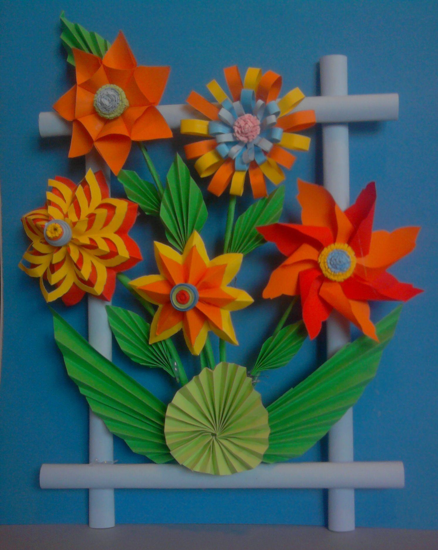 Kwiaty Z Papieru Ikebana Prace Plastyczne Dariusz Zolynski Flowers Paper Paper Flowers Orgiami Kirigami Blumen Aus Papier Bastelarbeiten Diy Blumen