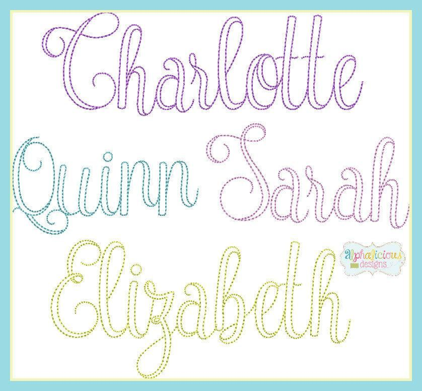 Vintage Olivia Embroidery Font Embroidery Fonts Vintage Embroidery Ribbon Embroidery