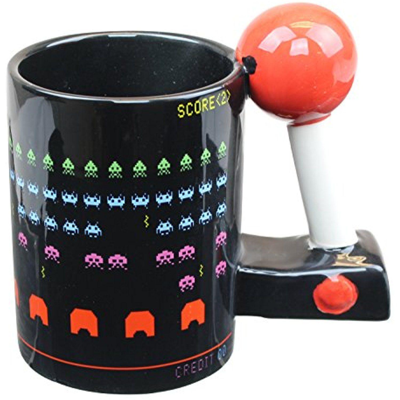 Space Invaders Scupted Ceramic 3D Arcade Coffee Mug 16 oz