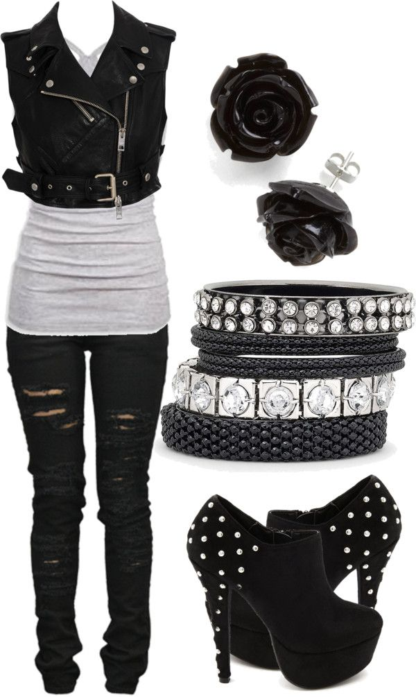 Edgy rocker girl | my style | Pinterest | Outfits Fashion and Clothes
