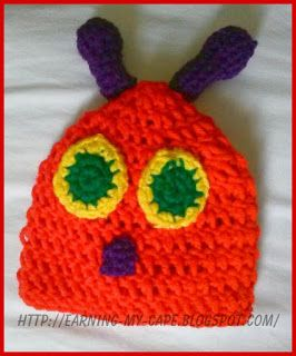 Earning-My-Cape: Newborn Caterpillar Hat and Cocoon {free crochet pattern}