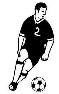 Free Soccer Player 01 Clipart Free Clipart Graphics Images And Photos Public Domain Clipart With Images Soccer Players Soccer Players
