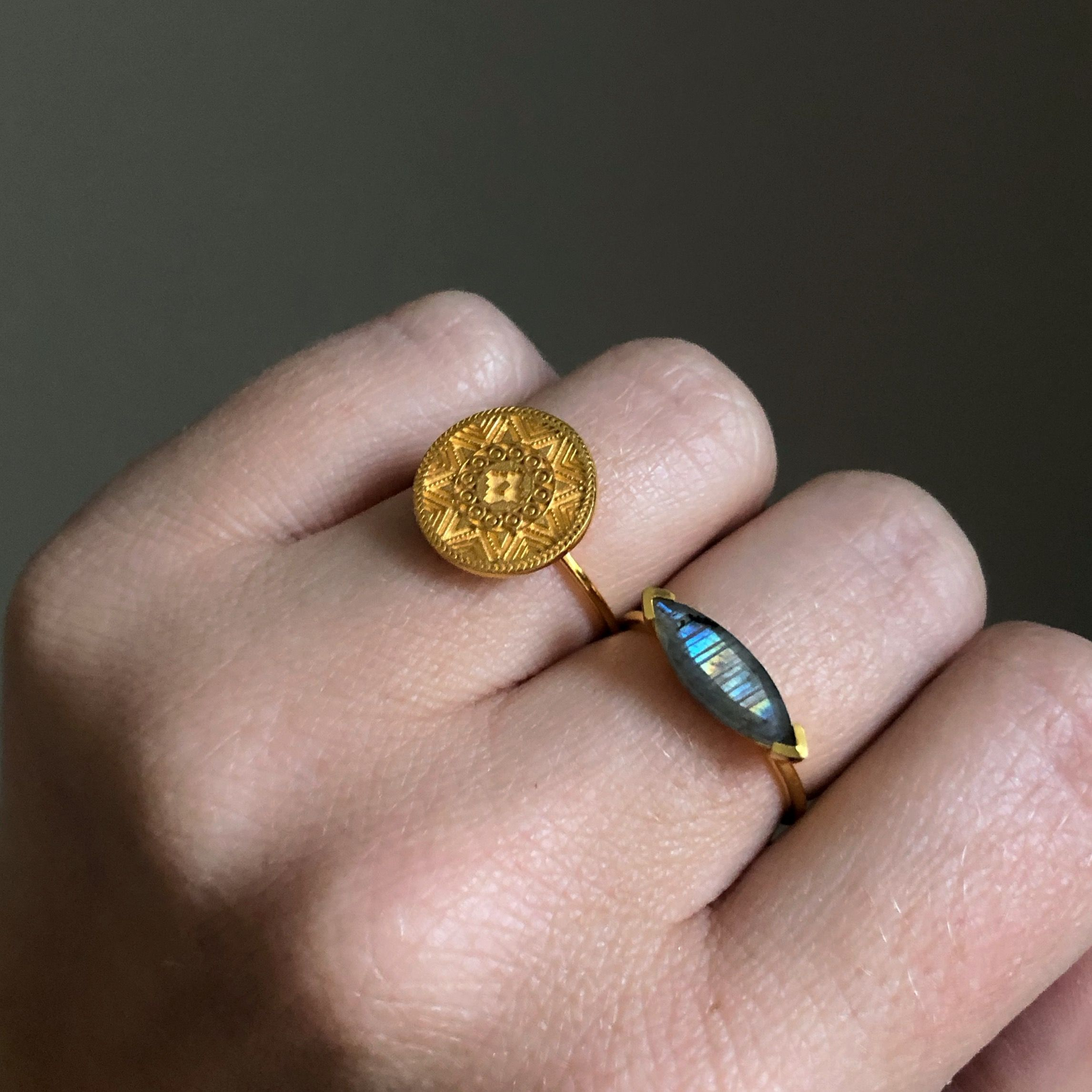 I Am Enough Aztec Coin Ring In 2020 Elizabeth Jewelry Coin Ring Coin Jewelry