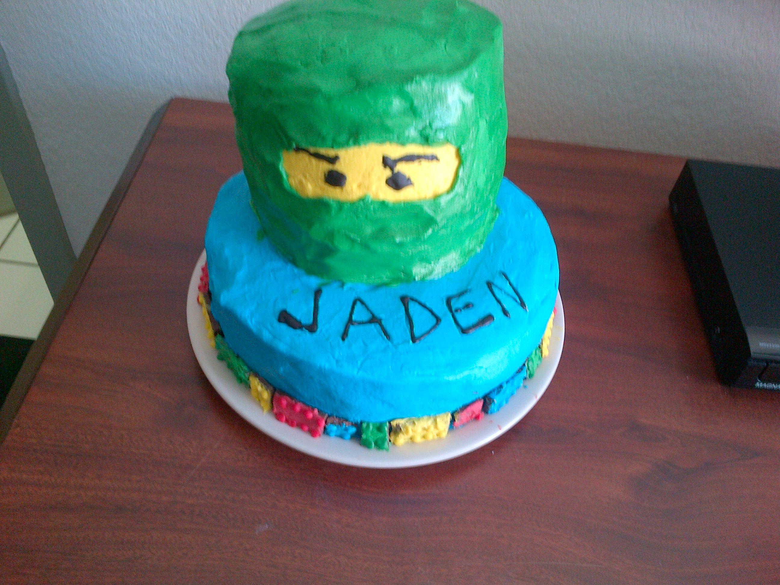Ninjago Birthday Cake No Fondant
