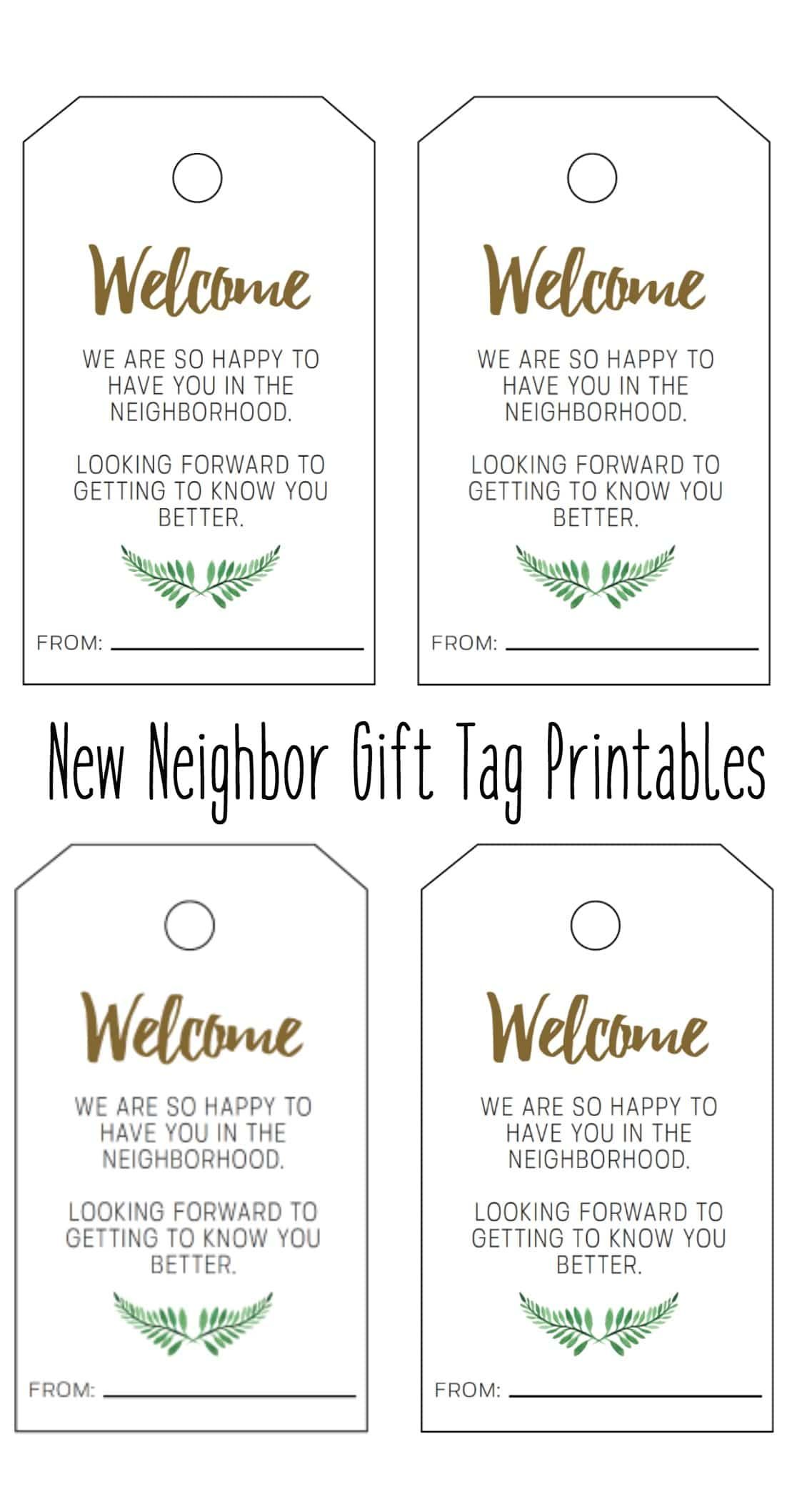 photograph about Welcome to the Neighborhood Printable identify Clean Neighbor Present Tag Printable - Welcome In the direction of The