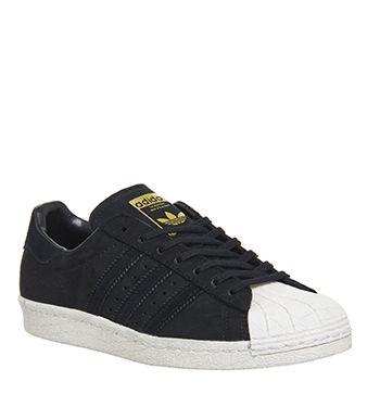 superstar adidas 80s core black