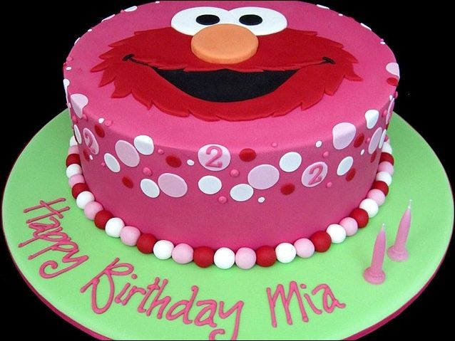 Birthday Cake Red Color Perfecting Kids Birthday Cake Design With - Colorful diy kids cakes