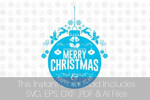 merry christmas happy new year svg pdf dxf eps ai by svgfilesshop