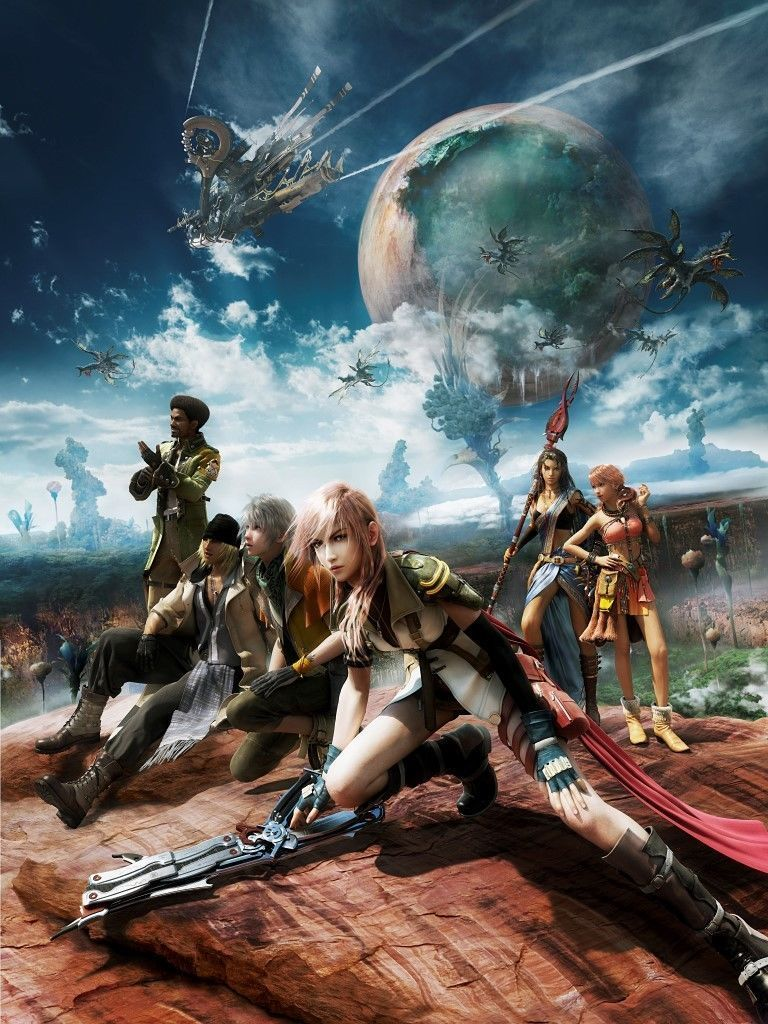 aud large final fantasy xiii video game wall art painting