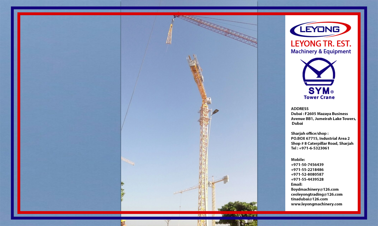 Pin by Leyong Machinery on tower crane | Spare parts, Uae, Tower