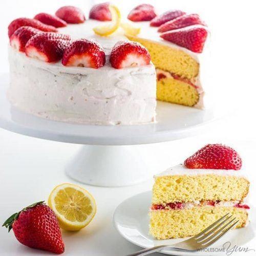 Strawberry Lemonade Cake Recipe (Low Carb, Gluten-free