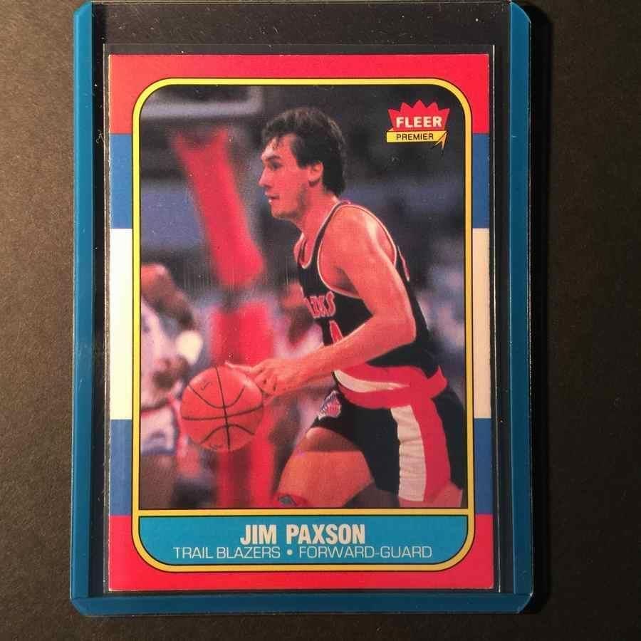 jim paxson 1986 fleer Basketball 85 portland trailblazers 86 87