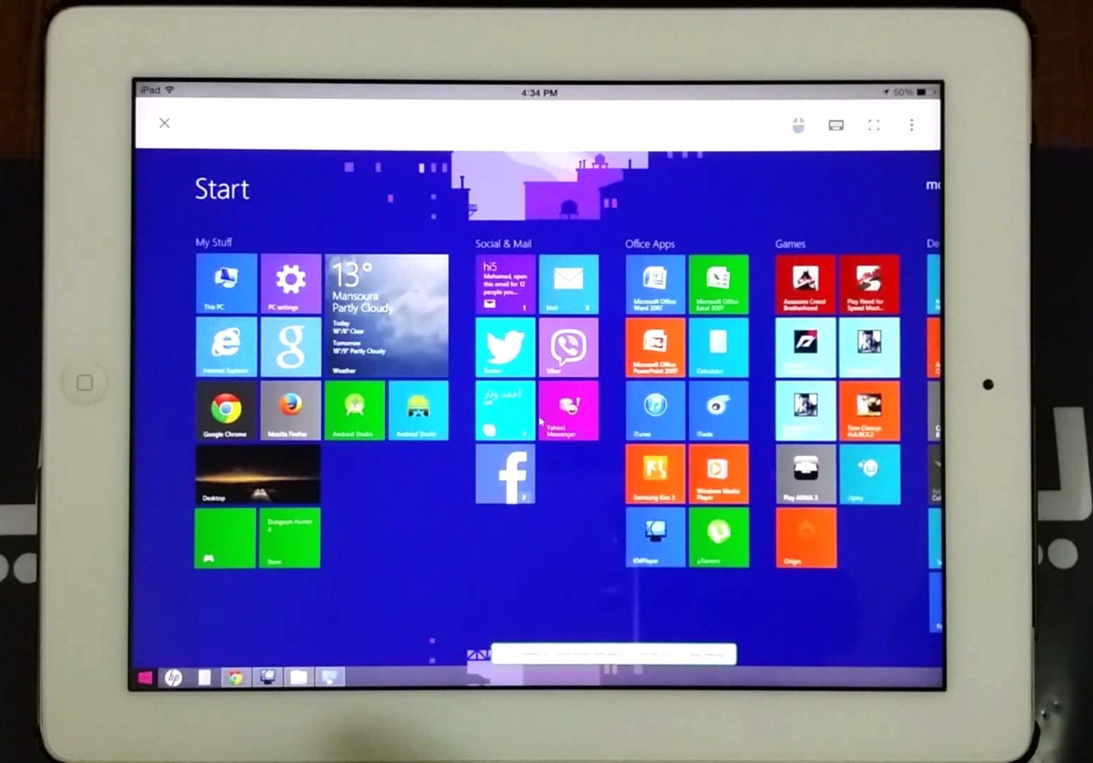 طريقة إستخدام تطبيق Chrome Remote Desktop للتحكم في الحاسب عن بعد من الآيباد أو الآيفون Tablet Desktop Desktop Screenshot