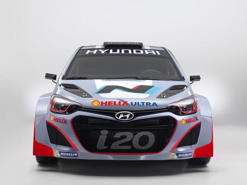 Hyundai i20 wrc rally cars