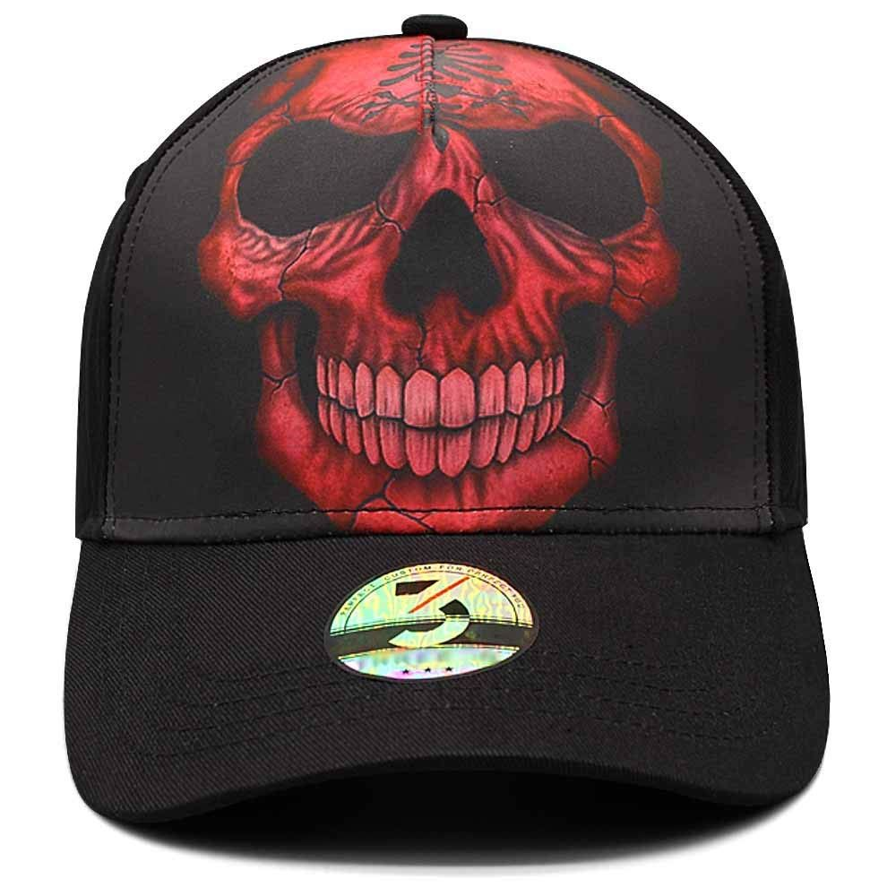 ca100fdd Amazon.com : Ann Lloyd Custom Baseball Cap Skull Printed Baseball Hat  Adjustable Hat (Smoking Skull) : Sports & Outdoors