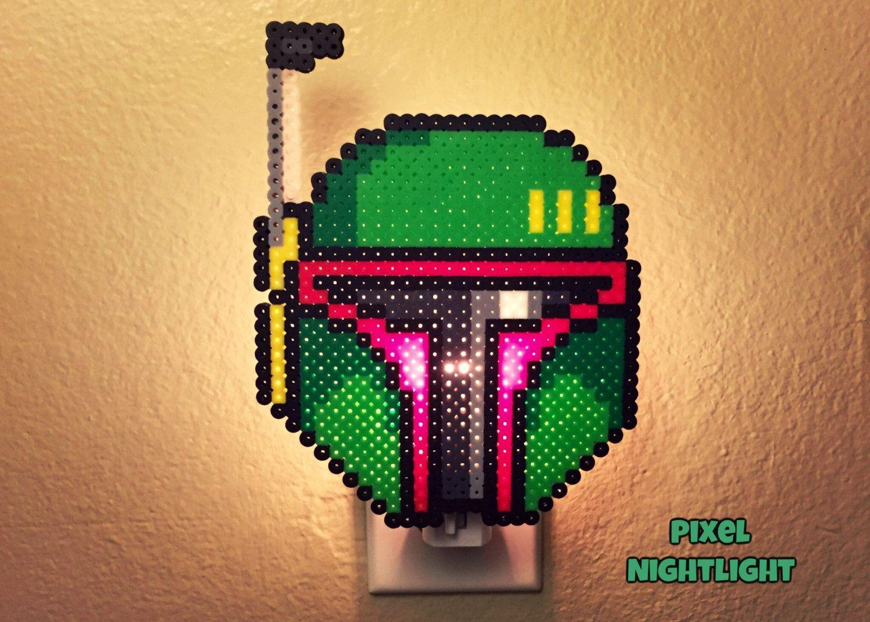 Boba Fett Star Wars Night Light Perler Beads By Pixelnightlight