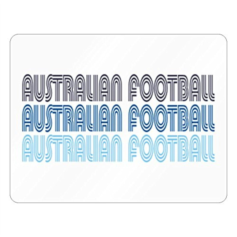 Idakoos - Australian Football RETRO COLOR - Sports - Plastic Acrylic - Brought to you by Avarsha.com