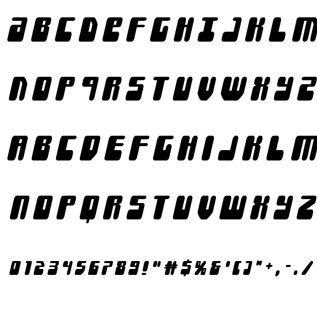 Force Majeure Title Italic Font