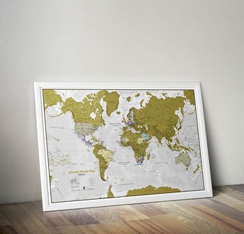 Scratch the world map print with coin pinterest map frame scratch map frame gumiabroncs Gallery