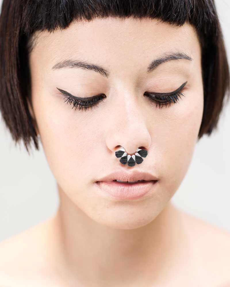 Nose piercing for big nose  Moroccan Septum Sterling Silver  Septum Negative space and Snug