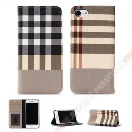 ad5e6ef4e75 Funda cartera piel diseño lujo con tapa para proteger mi móvil iphone 7 plus