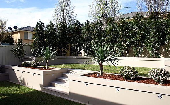 Rendered Walls Garden Design - Google Search | Home | Pinterest
