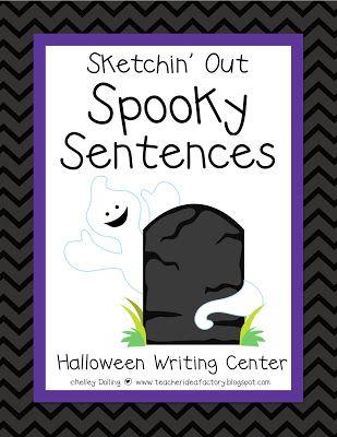 Teacher Idea Factory SKETCHIN\u0027 OUT SPOOKY SENTENCES - FREEBIE - halloween writing ideas