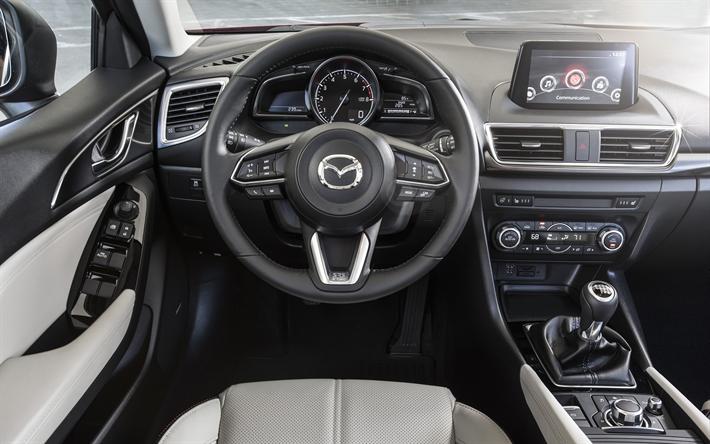 Download Wallpapers Mazda3 4k Interior 2018 Cars Dashboard Mazda 3 Japanese Cars Mazda Besthqwallpapers Com Mazda 3 Hatchback Mazda 3 Mazda