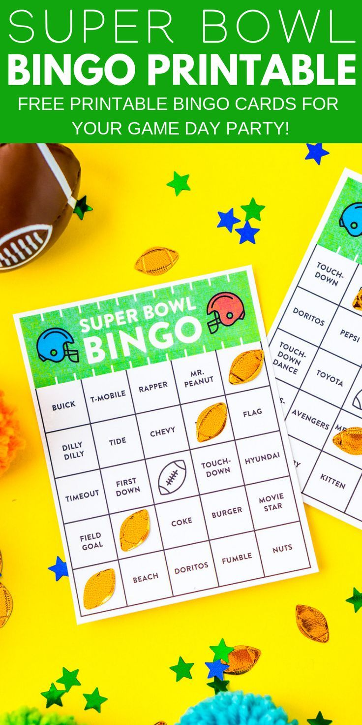 graphic relating to Free Printable Football Bingo Cards named This kind of Free of charge Printable Tremendous Bowl Bingo Playing cards are a enjoyable path in the direction of