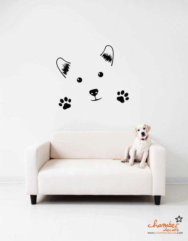 Pet Shop Salon Animals Dog Cat Fish Puppy Wall Art Stickers Decals Vinyl Home