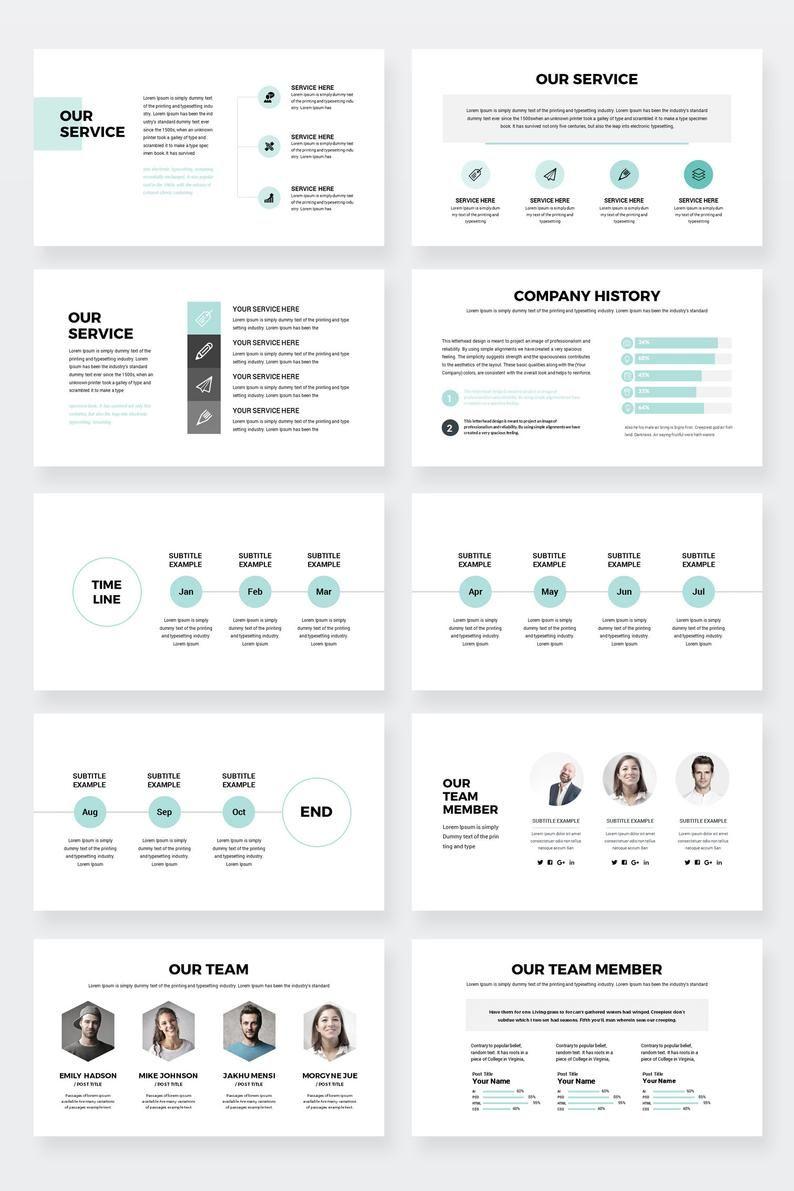 Moderne Business Plan PowerPoint-Vorlage editierbare | Etsy