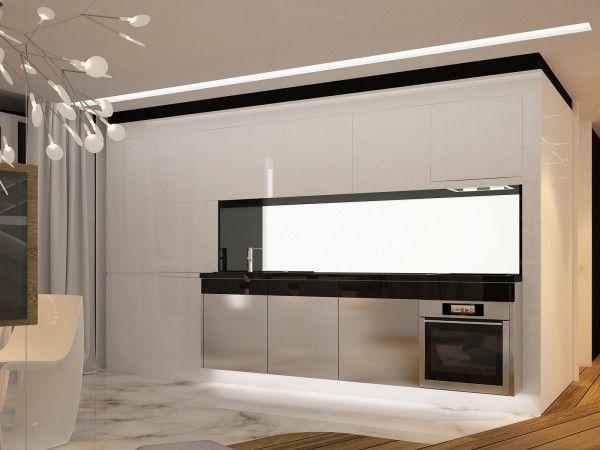 Das futuristische Design der zeitgenössischen Wohnung | Innenarchitektur