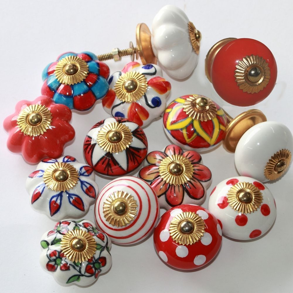 cheap furniture knobs. Furniture Knobs,ceramic-modern Handles,Knob,Button Indian Knob Red White, Cheap Knobs E