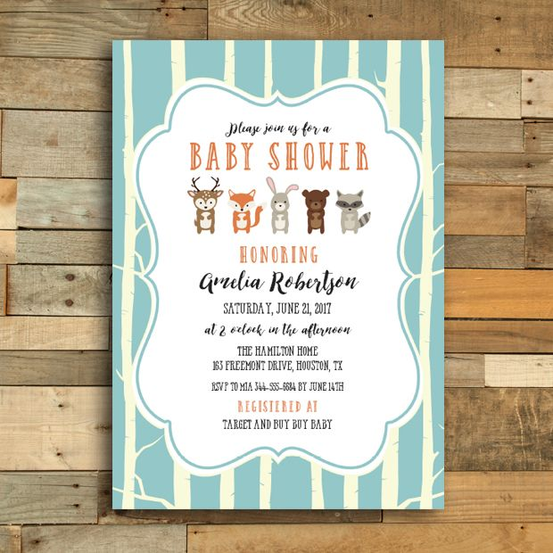 Editable woodland fox friends baby shower invitation pdf printable editable woodland fox friends baby shower invitation pdf printable instant download filmwisefo