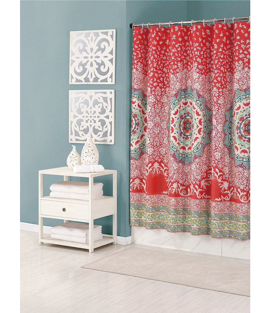 Jessica Simpson Amrita Medallion Shower Curtain | Dorm, Bathroom ...