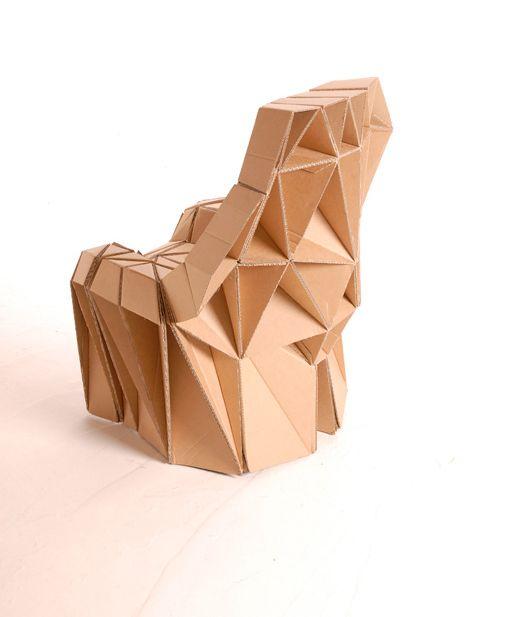 Carton meuble4 cardboard design pinterest cardboard for Imitazioni sedie design