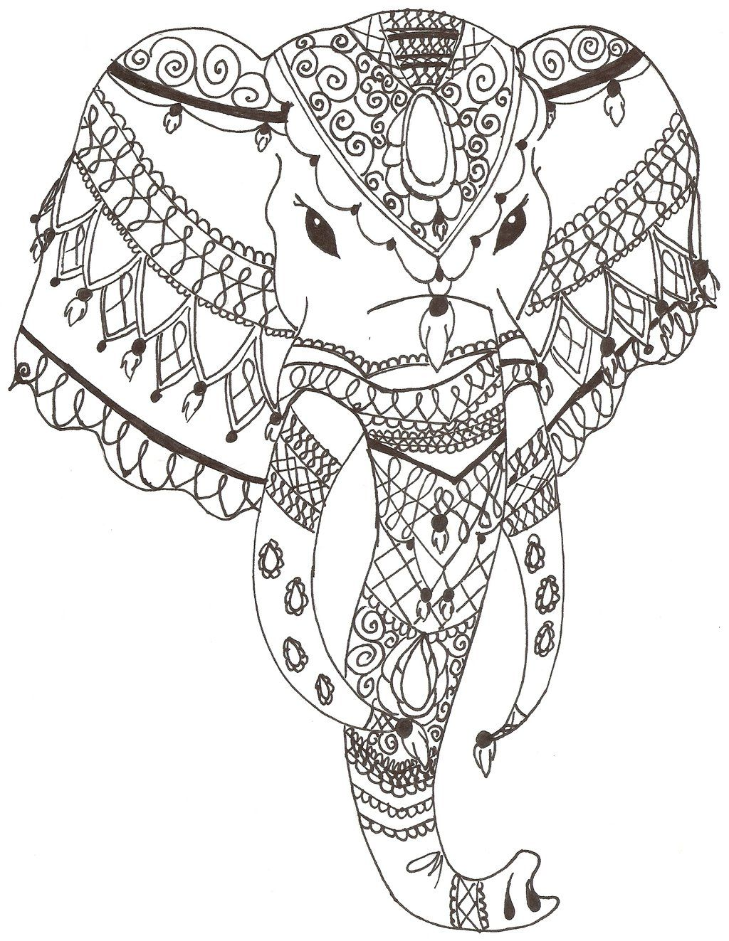 Indian Elephant By Grafin Drachendeviantart On