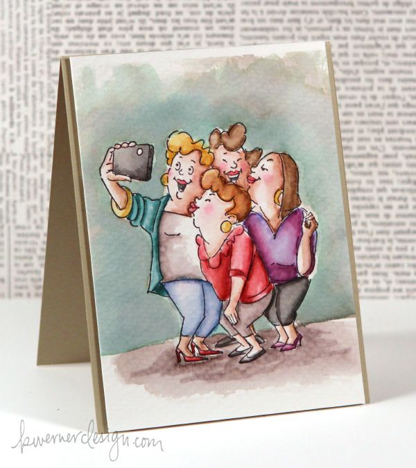 Art Impressions Picture Perfect Girlfriends. Ai card.