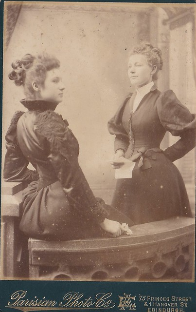 Cabinet Portrait of Two Ladies by Parisian Photo Co Edinbu… | Flickr