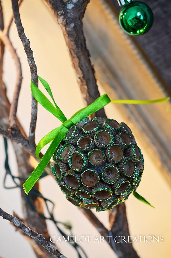 acorn ornament ball