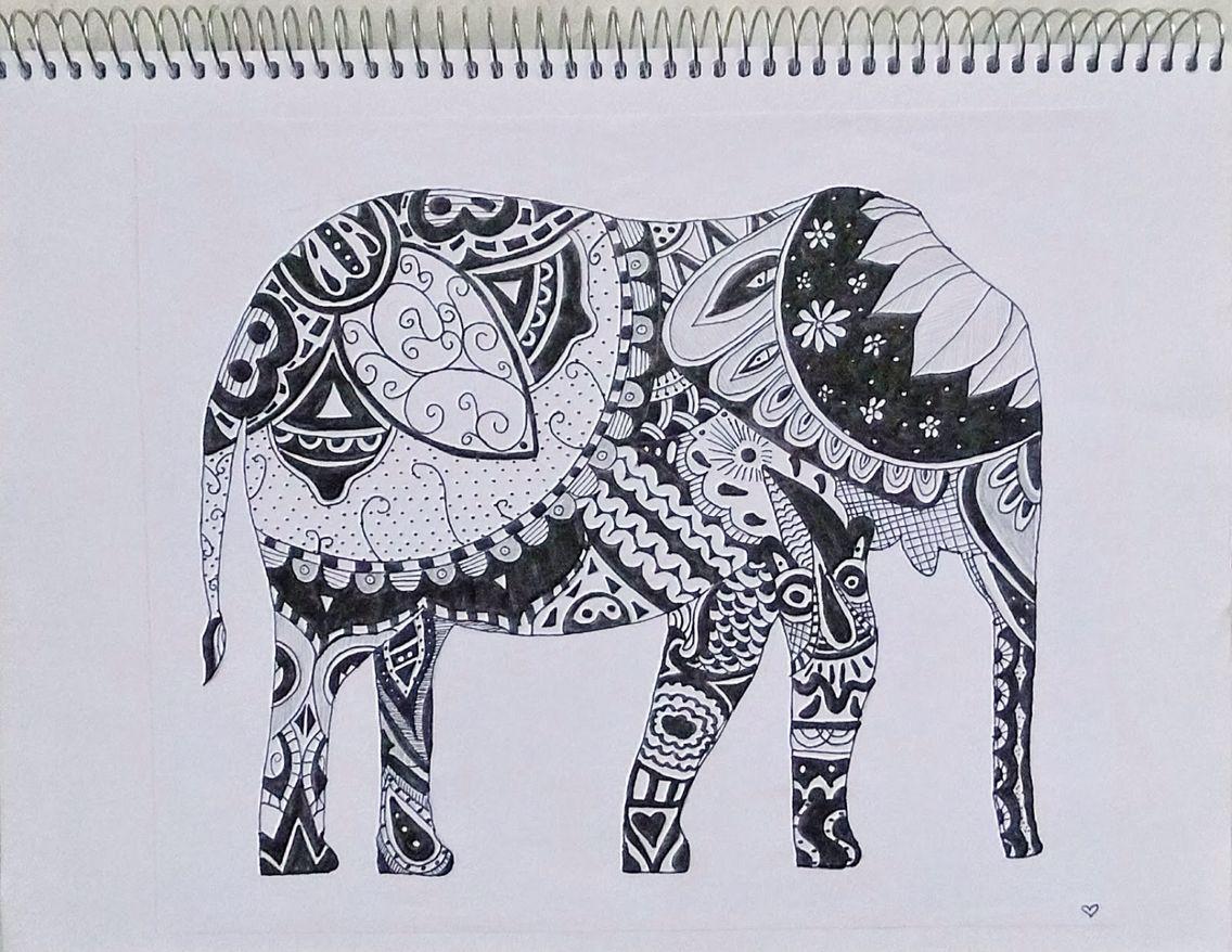 Bekend leuke olifant om na te tekenen. - Tekenen | Pinterest - Tekenen  RG12