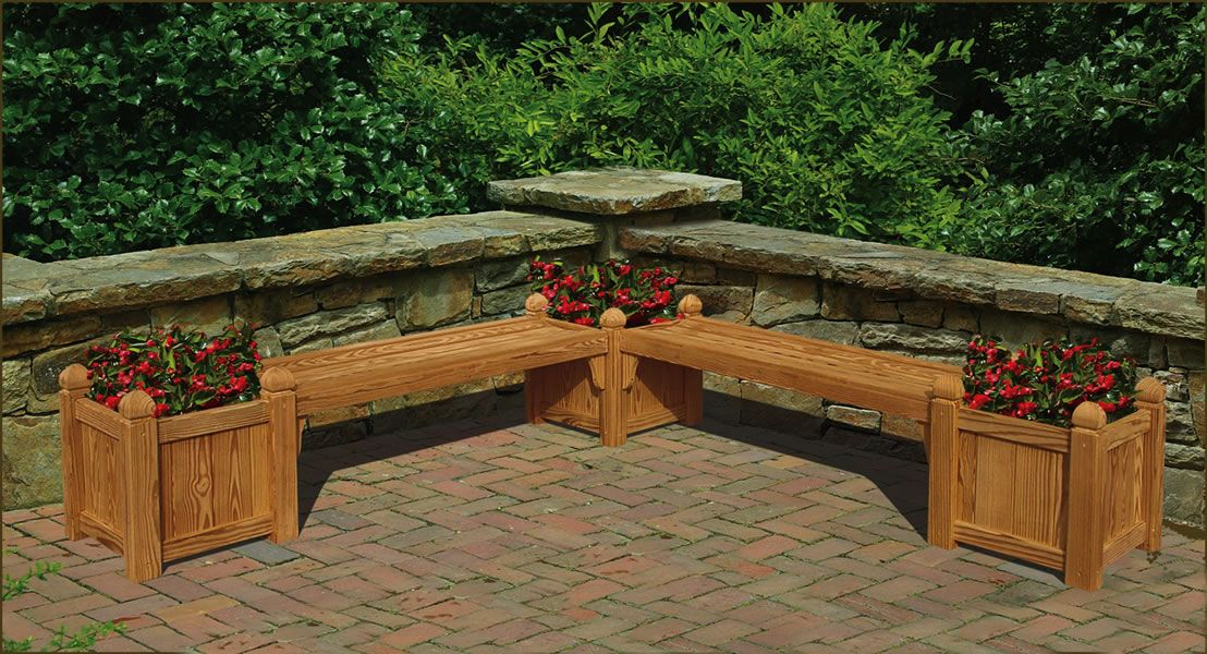 Seating And Flowers Too Backyard Backyard Projects Planter Box Plans