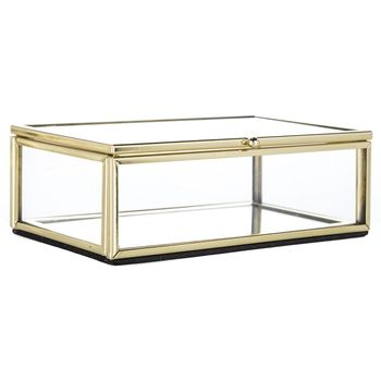 Gold Edged Glass Box Hobby Lobby 1119734 Glass Display Box