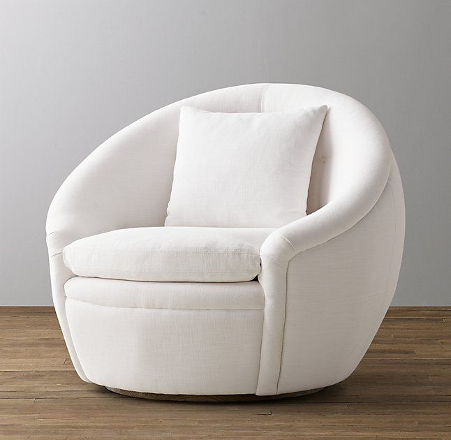 Oberon Upholstered Swivel Chair Master Bedroom