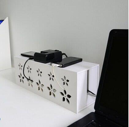 Montage Simple creux fil boîte de rangement blanc prise d - cable d alimentation electrique pour maison