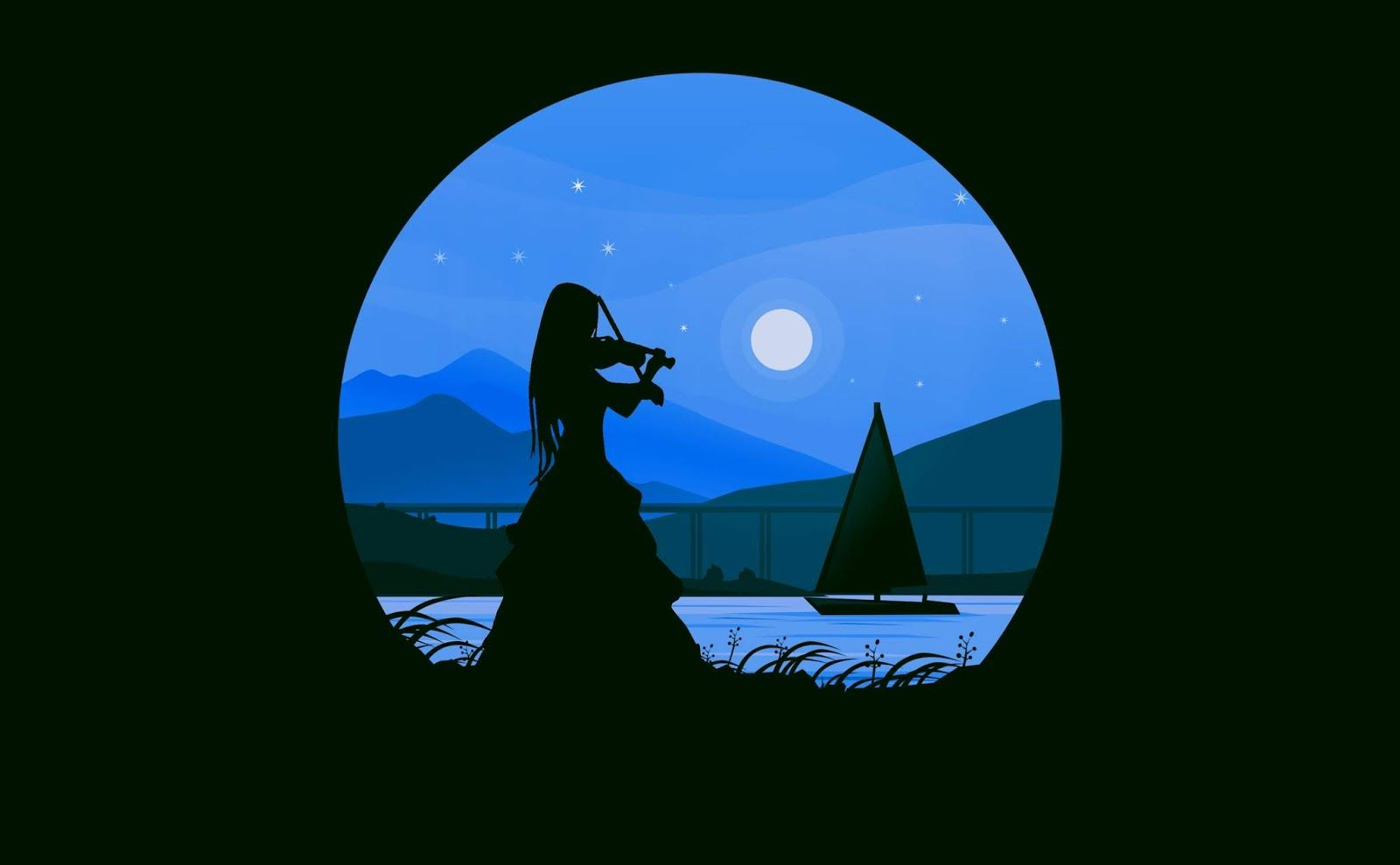 Download Free Images And Illustrations Illustration Of Violinist Play Music Beside The Ri Illustration Violinist Play Music