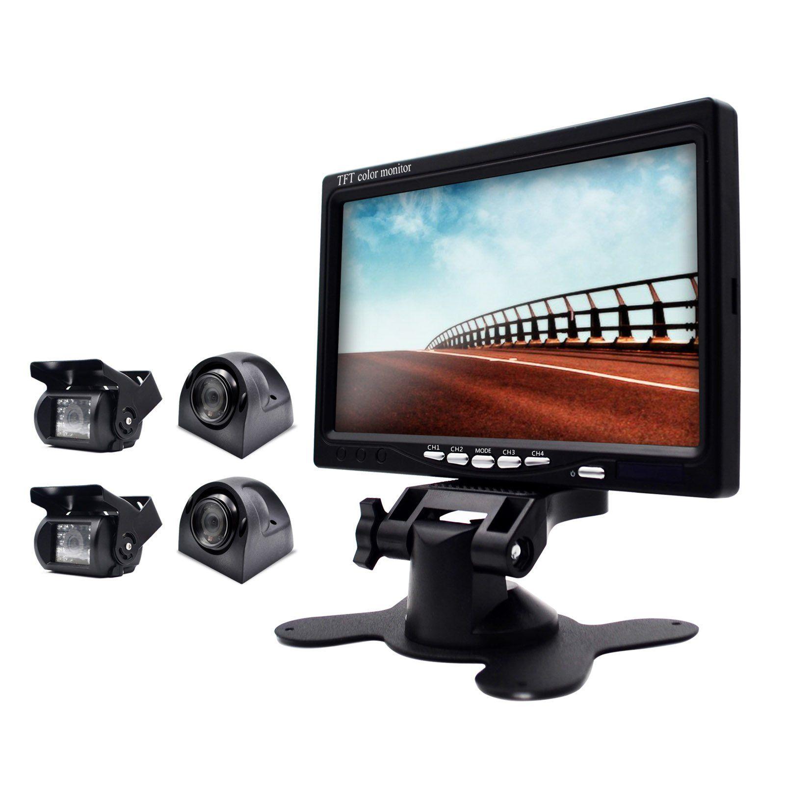 eRapta ER0202 Wired 7 Inch Split Quad Monitor and Waterproof ...