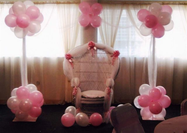 Baby shower decorations ideas for girls for the holidays for Baby shower decoration ideas for a girl
